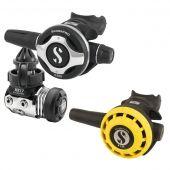 Регулятор MK17/S600 и октопус R195 - И в теплой, и в ледяной воде, сбалансированная мембрана, сухая камера, теплообменник, регулировка усилия, усилитель потока, 6 портов