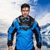 Сухой гидрокостюм EX2 - Высокая гибкость дышащего материала, подвижность и малый вес, задняя гибкая молния, кольца в руках и шее, силиконовые манжеты, носки