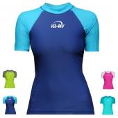 Лайкровая футболка iQ UV 300+ женская короткий рукав двухцветная
