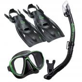 Комплект Powerview UP2521B маска трубка ласты