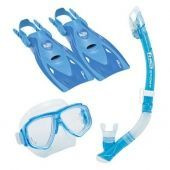 Комплект Splendive Dry Travel маска, трубка, ласты
