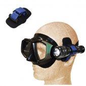 Крепление фонаря к ремешку маски